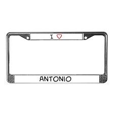 I love Antonio License Plate Frame
