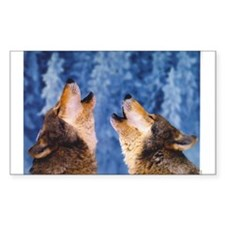 """""""Howling Wolves"""" Rectangle Decal"""