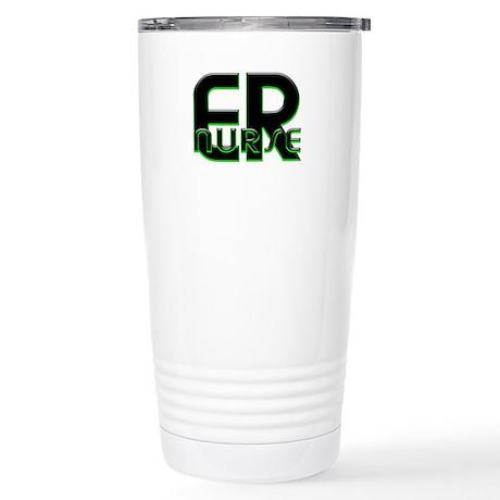 ER NURSE GREEN GLOW Stainless Steel Travel Mug