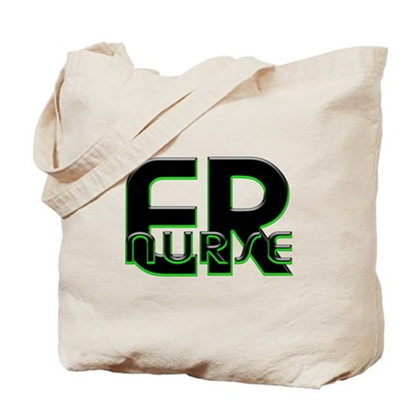 ER NURSE GREEN GLOW Tote Bag