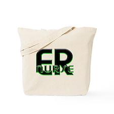ER NURSE GREEN GLOW Tote Bag