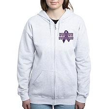 Purple Strong Survivor Zip Hoodie