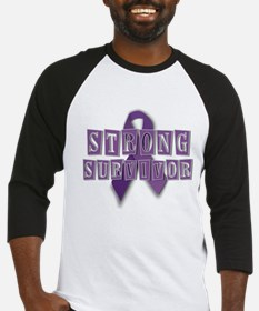 Purple Strong Survivor Baseball Jersey