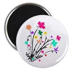 "'Flower Spray' 2.25"" Magnet (10 pack)"