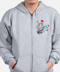 'Flower Spray' Zip Hoodie