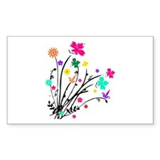 'Flower Spray' Rectangle Decal