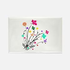 'Flower Spray' Rectangle Magnet