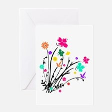 'Flower Spray' Greeting Card