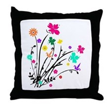 'Flower Spray' Throw Pillow