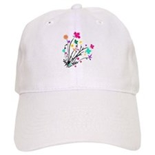 'Flower Spray' Baseball Cap