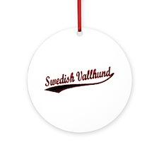 Swedish Vallhund Varsity Ornament (Round)