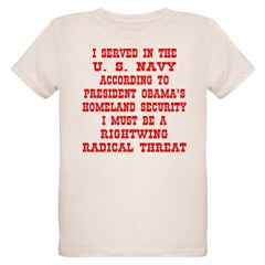 Navy Rightwing Radical Threat T-Shirt