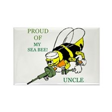 seabee uncle Rectangle Magnet