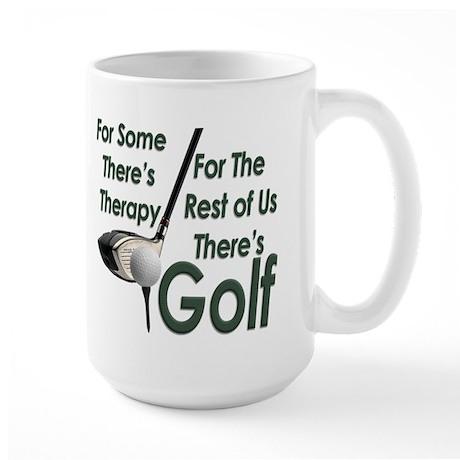 Golf Therapy Large Coffee Mug