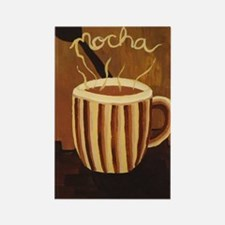 Mocha Coffee Mug Rectangle Magnet