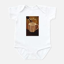 Mocha Coffee Mug Infant Bodysuit