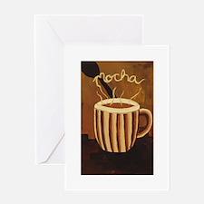 Mocha Coffee Mug Greeting Card