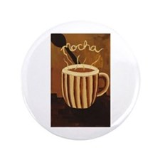"Mocha Coffee Mug 3.5"" Button"