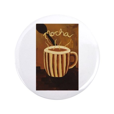 "Mocha Coffee Mug 3.5"" Button"