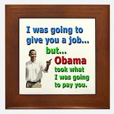 Obama Job Framed Tile