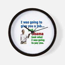 Obama Job Wall Clock