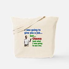 Obama Job Tote Bag
