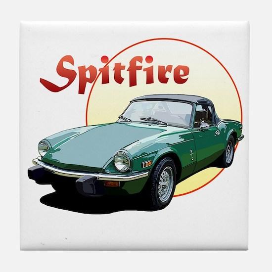 Cute Triumph spitfire Tile Coaster