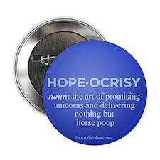 "Hopeocrisy 2.25"" Button (10 pack)"