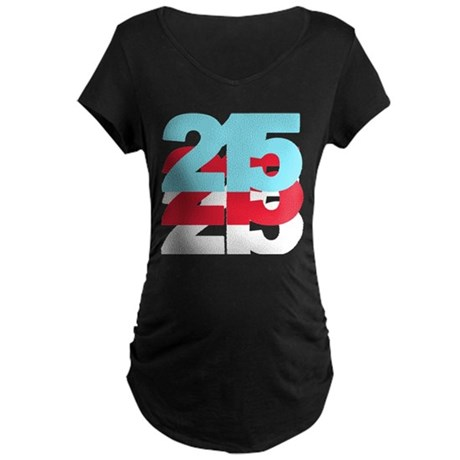 215 Area Code Maternity Dark T-Shirt