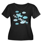 I've Arrived Women's Plus Size Scoop Neck Dark T-S