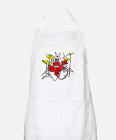 Drums Cat BBQ Apron