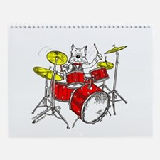 Drums Cat Wall Calendar