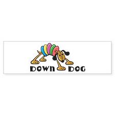Down Dog Bumper Bumper Sticker