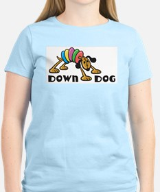 Down Dog Women's Pink T-Shirt