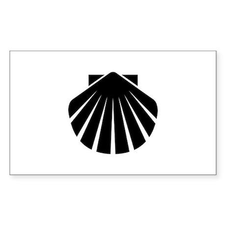 Scallop Rectangle Sticker