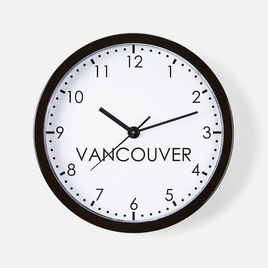 VANCOUVER Modern Newsroom Wall Clock