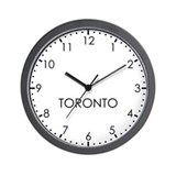 Time zone toronto Wall Clocks