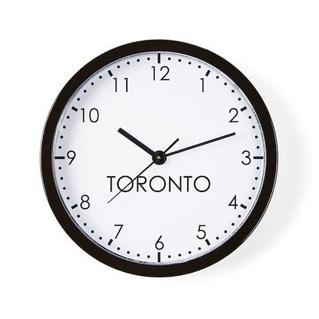 TORONTO Modern Newsroom Wall Clock
