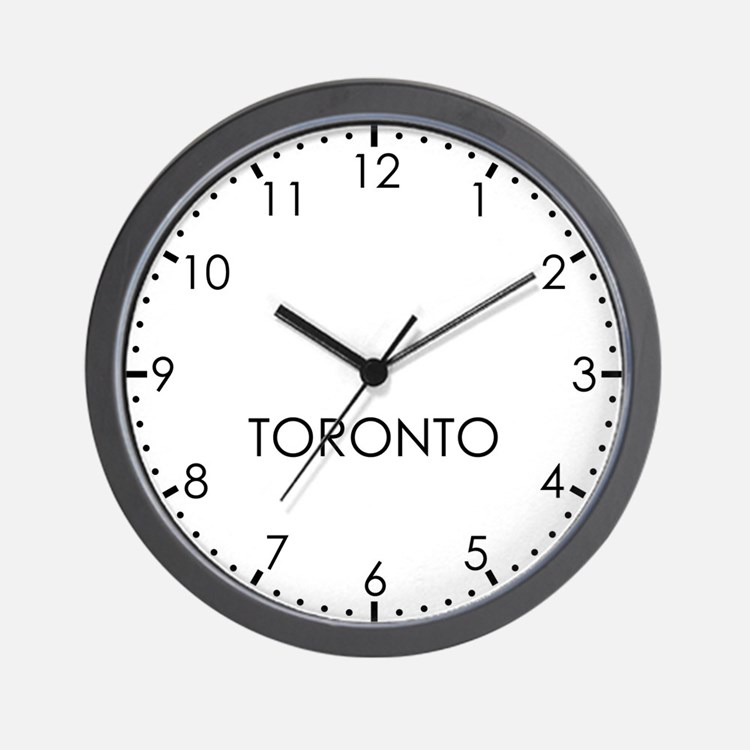 TORONTO Modern Newsroom Wall Clock
