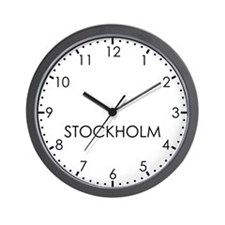 STOCKHOLM Modern Newsroom Wall Clock
