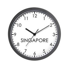 SINGAPORE Modern Newsroom Wall Clock