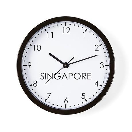 SINGAPORE Modern Newsroom Wall Clock