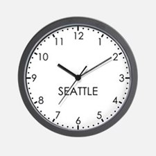 SEATTLE Modern Newsroom Wall Clock