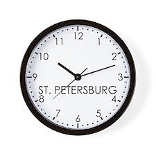 ST. PETERSBURG Modern Newsroom Wall Clock