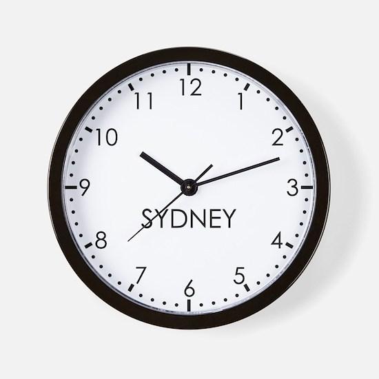 SYDNEY Modern Newsroom Wall Clock