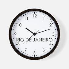 RIO DE JANEIRO Modern Newsroom Wall Clock