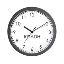 RIYADH Modern Newsroom Wall Clock