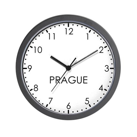 PRAGUE Modern Newsroom Wall Clock