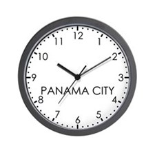 PANAMA CITY Modern Newsroom Wall Clock