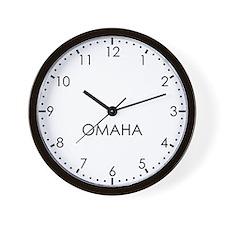OMAHA Modern Newsroom Wall Clock